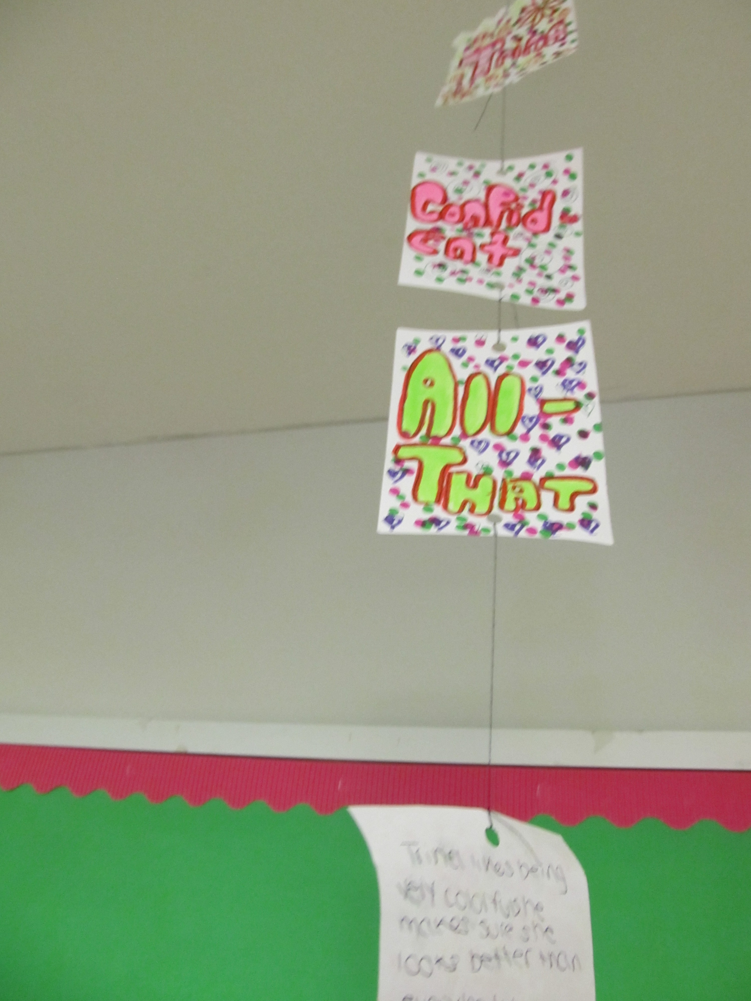 The Seventh Grade Class Made Special Mobiles About The Book Jumped By Rita  Williamsgarcia