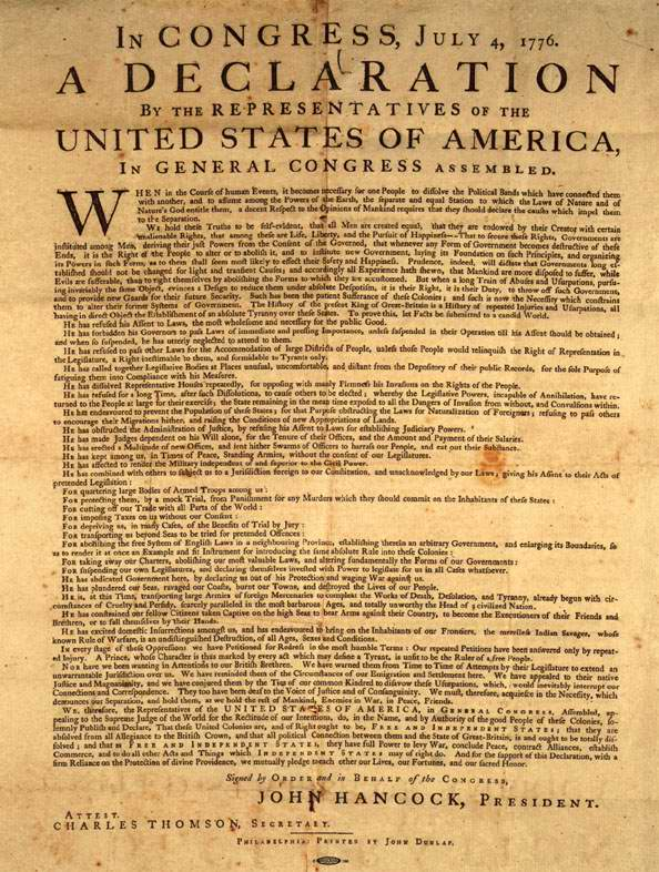 a review of the rhetoric in the declaration of independence in the us These famous words are all that most people remember of the american declaration of independence robert hole | published in history review issue 39 march 2001.