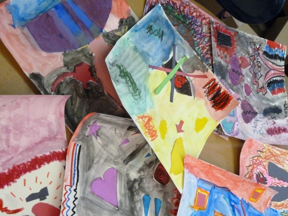 Students express their emotions through abstract art
